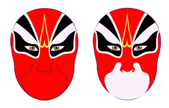 coreldraw x7绘制京剧脸谱的方法