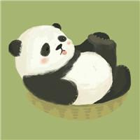手绘熊猫可爱微信头像 熊猫小清新卡通微信头像