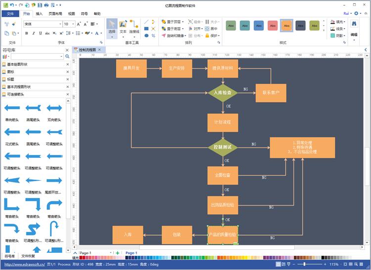 亿图流程图制作软件v8